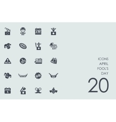 Set of april fools day icons vector