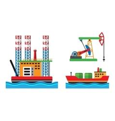 Oil extraction platform vector