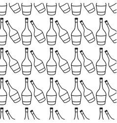Figure wine bottles taste beverage background vector