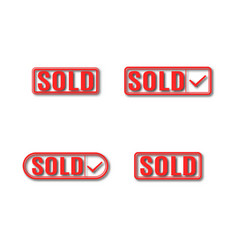 A set of label sold vector