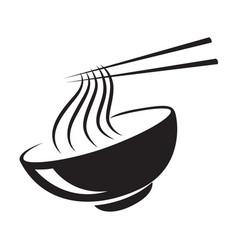 Icon black noodle vector