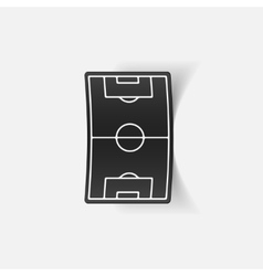 Realistic design element playing field vector