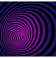 Spiral Striped Abstract Tunnel Background vector image