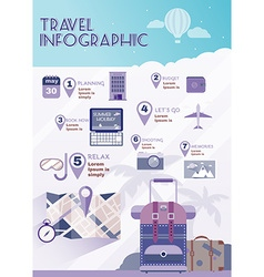 Vacation planner flat summer infographics vector