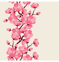 Japanese sakura seamless pattern with stylized vector