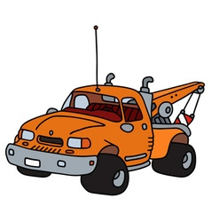 Breakdown service vehicle vector