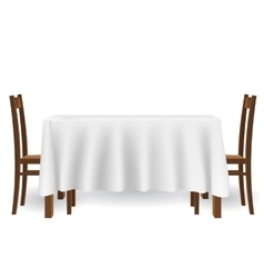 kitchen table and chairs vector image