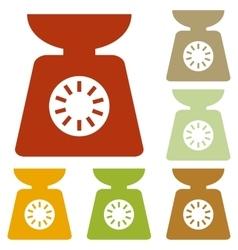 Kitchen scales sign vector