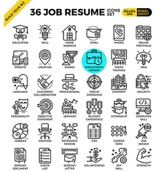 Job resume icons vector