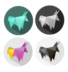 abstract Origami bull vector image vector image
