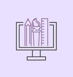 art icon design linear vector image vector image