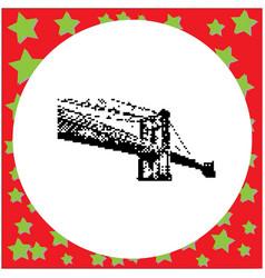brooklyn bridge in new york city vector image vector image