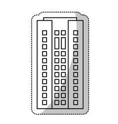 Building residential facade cut line vector