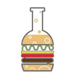 Burger beaker vector image