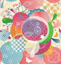 Colorful Abstract Pattern in a Modern Style with vector image vector image