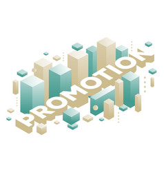 Creative of three dimensional word promotion with vector