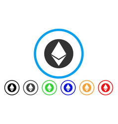 ethereum flat icon vector image