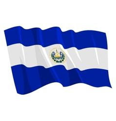 flag of salvador vector image vector image