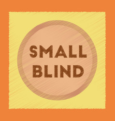Flat shading style icon small blind vector