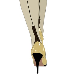 High heels and silk stockings vector image vector image