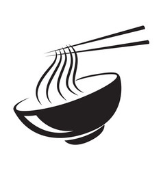 Icon black noodle vector