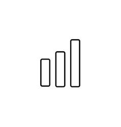 Modern bar chart line icon premium pictogram vector