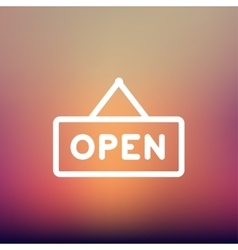 Open sign thin line icon vector image
