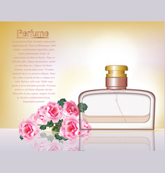 perfume cosmetics and perfume ads template silver vector image vector image