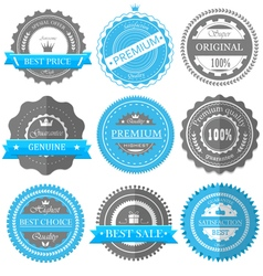 Premium quality guarantee badges vector image vector image