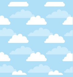 seamless pattern with clouds and sky vector image vector image