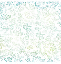 seamless pattern with spring leaves pastel vector image vector image