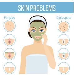 skin problems solution mask vector image