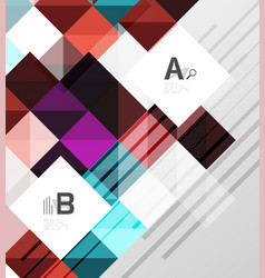 Square modern abstract background vector
