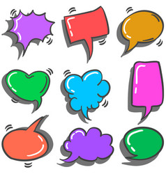 Text balloon various style of set vector
