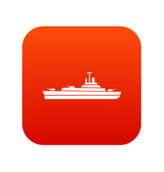 warship icon digital red vector image vector image