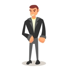 Cool cartoon guy with in casual clothes vector