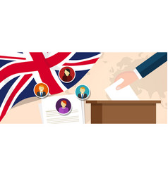 Uk united kingdom england democracy political vector