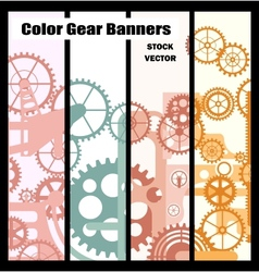 Banners with gears vector image