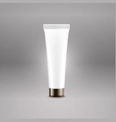 Plastic tube advertising template cream bottle vector