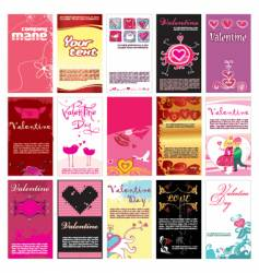 Valentins day cards templates vector