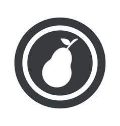 Round black pear sign vector