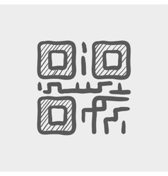 Qr code sketch icon vector