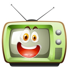 Retro television with face vector