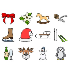 Holiday symbols vector
