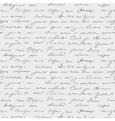 seamless abstract handwritten text vector image