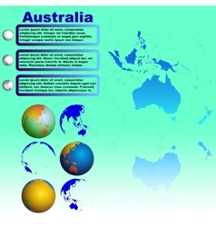 Australia map on blue background vector image