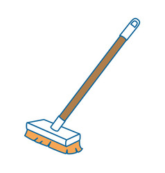 Brush clean isolated icon vector