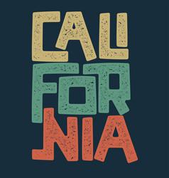 California t-shirt graphic design vector