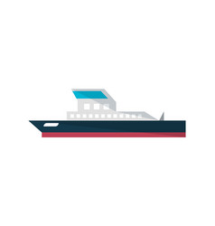 commercial ship isolated icon in flat design vector image vector image