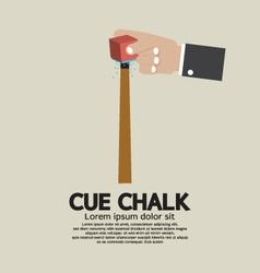Cue Chalk Or Billiard Sports vector image